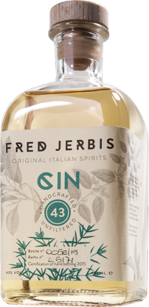 "Fred Jerbis ""Gin 43"" Premium Italian Herbal Gin, handcrafted, ungefiltert"